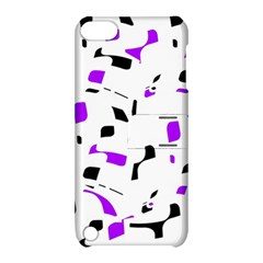 Purple, black and white pattern Apple iPod Touch 5 Hardshell Case with Stand