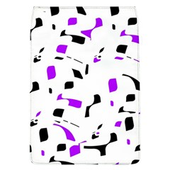 Purple, black and white pattern Flap Covers (L)