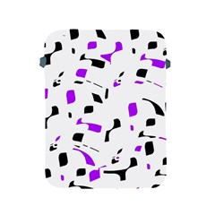 Purple, black and white pattern Apple iPad 2/3/4 Protective Soft Cases