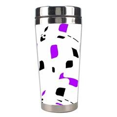 Purple, black and white pattern Stainless Steel Travel Tumblers
