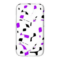 Purple, black and white pattern Samsung Galaxy S4 Classic Hardshell Case (PC+Silicone)