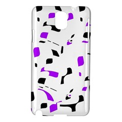 Purple, black and white pattern Samsung Galaxy Note 3 N9005 Hardshell Case