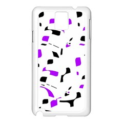 Purple, black and white pattern Samsung Galaxy Note 3 N9005 Case (White)
