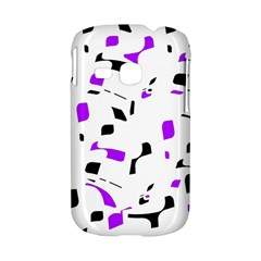 Purple, black and white pattern Samsung Galaxy S6310 Hardshell Case