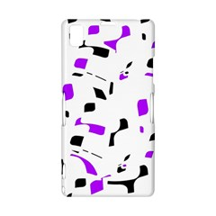 Purple, black and white pattern Sony Xperia Z1