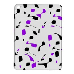 Purple, black and white pattern iPad Air 2 Hardshell Cases