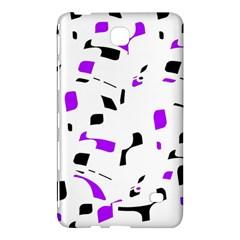 Purple, black and white pattern Samsung Galaxy Tab 4 (8 ) Hardshell Case