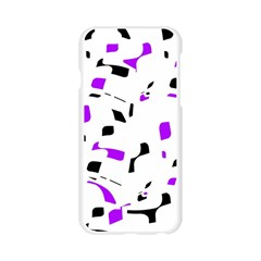 Purple, black and white pattern Apple Seamless iPhone 6/6S Case (Transparent)