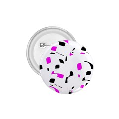 Magenta, black and white pattern 1.75  Buttons