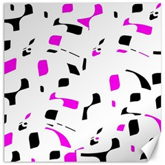 Magenta, black and white pattern Canvas 20  x 20