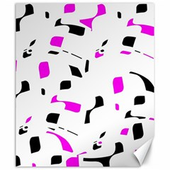 Magenta, black and white pattern Canvas 20  x 24