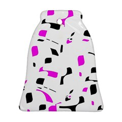 Magenta, black and white pattern Bell Ornament (2 Sides)
