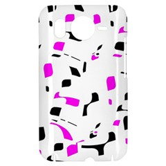 Magenta, black and white pattern HTC Desire HD Hardshell Case