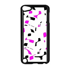 Magenta, black and white pattern Apple iPod Touch 5 Case (Black)