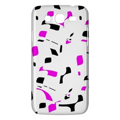 Magenta, black and white pattern Samsung Galaxy Mega 5.8 I9152 Hardshell Case
