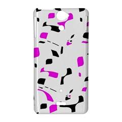 Magenta, black and white pattern Sony Xperia V