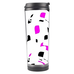 Magenta, black and white pattern Travel Tumbler