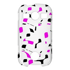 Magenta, black and white pattern Samsung Galaxy S7710 Xcover 2 Hardshell Case