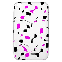 Magenta, black and white pattern Samsung Galaxy Tab 3 (8 ) T3100 Hardshell Case