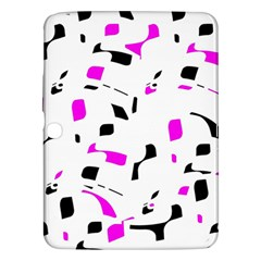 Magenta, black and white pattern Samsung Galaxy Tab 3 (10.1 ) P5200 Hardshell Case