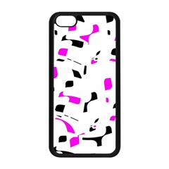 Magenta, black and white pattern Apple iPhone 5C Seamless Case (Black)