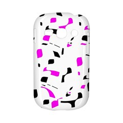 Magenta, black and white pattern Samsung Galaxy S6810 Hardshell Case