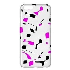 Magenta, black and white pattern Apple iPhone 6 Plus/6S Plus Hardshell Case