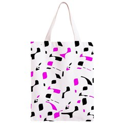 Magenta, black and white pattern Classic Light Tote Bag
