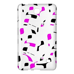 Magenta, black and white pattern Samsung Galaxy Tab 4 (8 ) Hardshell Case