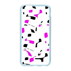 Magenta, black and white pattern Apple Seamless iPhone 6/6S Case (Color)