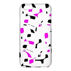 Magenta, black and white pattern iPhone 6/6S TPU Case