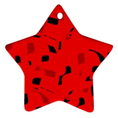 Red and black pattern Ornament (Star)