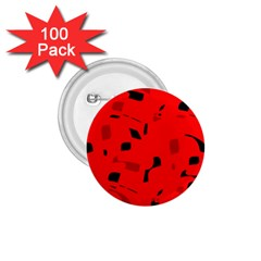 Red and black pattern 1.75  Buttons (100 pack)