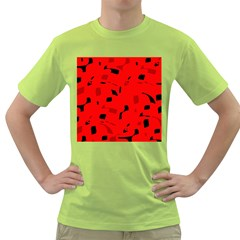 Red and black pattern Green T-Shirt