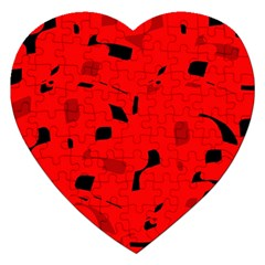 Red and black pattern Jigsaw Puzzle (Heart)