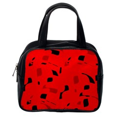 Red and black pattern Classic Handbags (One Side)