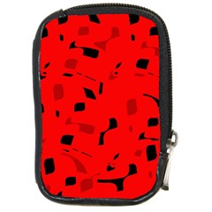 Red and black pattern Compact Camera Cases