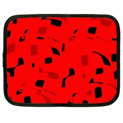 Red and black pattern Netbook Case (XXL)