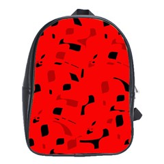 Red and black pattern School Bags(Large)