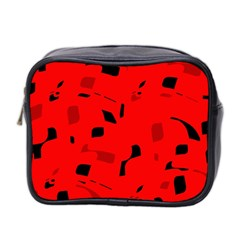 Red and black pattern Mini Toiletries Bag 2-Side