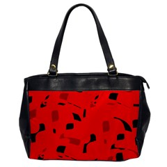 Red and black pattern Office Handbags