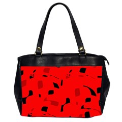 Red and black pattern Office Handbags (2 Sides)