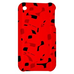Red and black pattern Apple iPhone 3G/3GS Hardshell Case