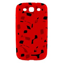 Red and black pattern Samsung Galaxy S III Hardshell Case