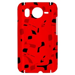 Red and black pattern HTC Desire HD Hardshell Case