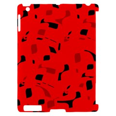 Red and black pattern Apple iPad 2 Hardshell Case (Compatible with Smart Cover)