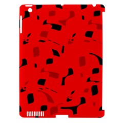 Red and black pattern Apple iPad 3/4 Hardshell Case (Compatible with Smart Cover)