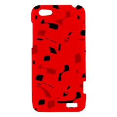 Red and black pattern HTC One V Hardshell Case