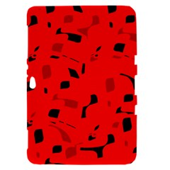 Red and black pattern Samsung Galaxy Tab 8.9  P7300 Hardshell Case