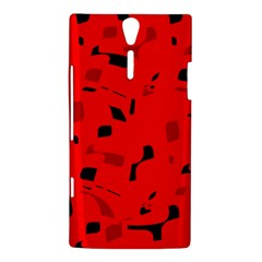 Red and black pattern Sony Xperia S
